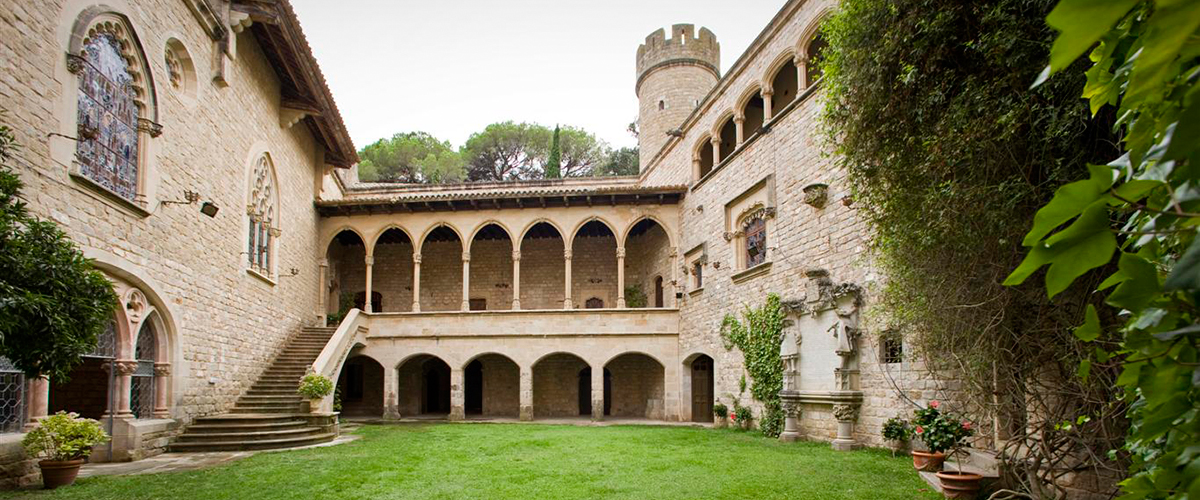 Historic castle in Barcelona's Costa Brava, Spain